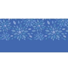 Blue textile peony flowers horizontal seamless vector