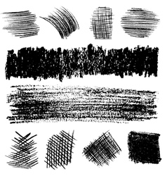 Artistic set of pencil hatching vector