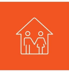 Family house line icon vector image