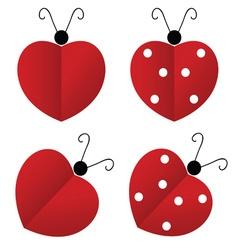 ladybug heart vector image