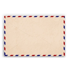 Aged envelope design vector