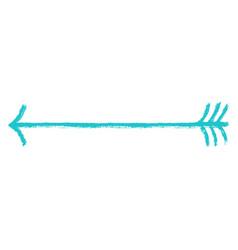 Arrow symbol brush stroke texture vector