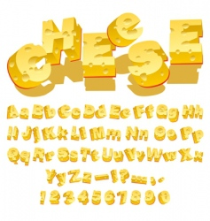 cheese font vector image