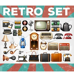 Different kind of retro objects vector