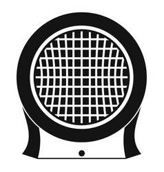 Electric heater icon simple style vector