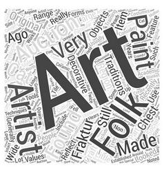 Folk art auctions word cloud concept vector