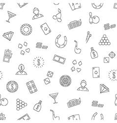 Gambling pattern black icons vector
