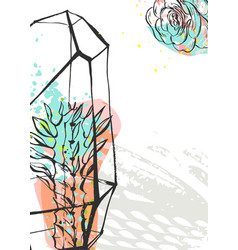 hand drawn abstract graphic creative vector image vector image