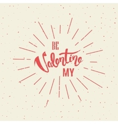 Happy Valentines Day Hand Lettering vector image vector image