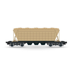 hopper car cargo wagon isolated vector image vector image