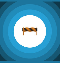 isolated coil copper flat icon bobbin vector image