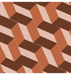 Isometric cubes repeatable pattern 3D background vector image