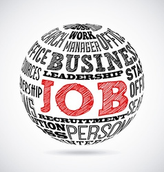 Jobs design vector