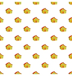 Large residential house with roof pattern vector