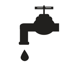 Leaky tap vector image