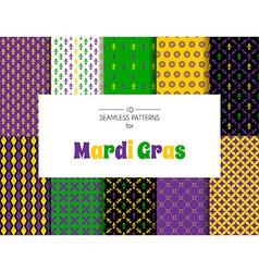 Mardi Gras pattern backgrounds vector image
