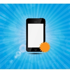 Mobile phone with price label vector image