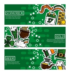 Set of Horizontal Banners StPatricks Day vector image vector image