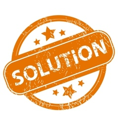 Solution grunge icon vector image vector image