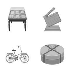 Sport museums and other monochrome icon in vector