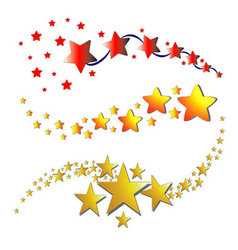 star shaped icons vector image vector image