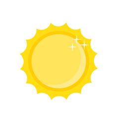 summer sun icon vector image vector image
