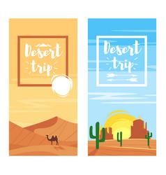 Template for flyers for desert trip vector