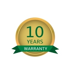 Ten years warranty label vector image vector image