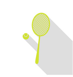 Tennis racquet sign pear icon with flat style vector