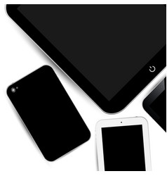 Work surface phone touch pad vector