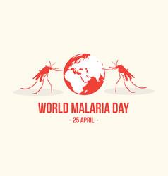 World malaria day concept style vector