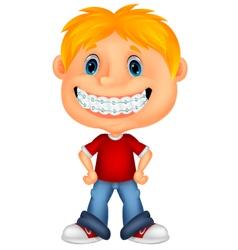 Young children cartoon smiling vector image