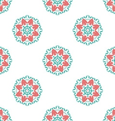 Colorful geometric designs floral simple pattern vector