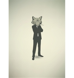 Cat Businessman vector image
