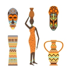 African woman vector image