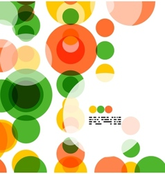 Colorful geometrical circles background vector