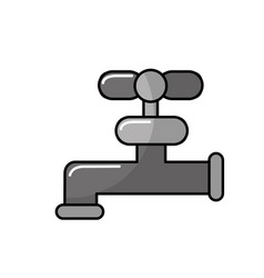 gray faucet closed to save water vector image