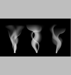 Digital white smoke on transparent vector