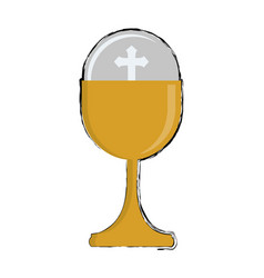 catholic religion icon vector image