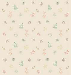 Funny seamless christmas pattern vector
