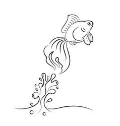 Goldfish jumping vector