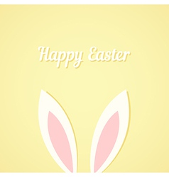 Rabbit ears easter card vector