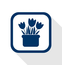 Flowers flat icon vector