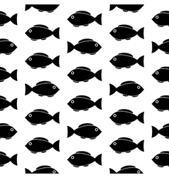 Fish symbol seamless pattern vector