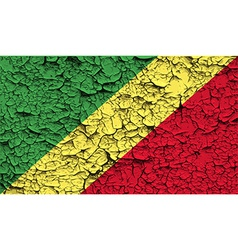 Flag of Congo Republic with old texture vector image