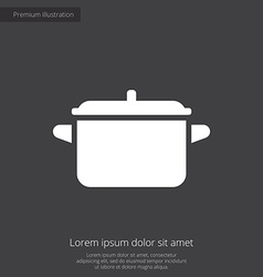 Pot premium icon vector