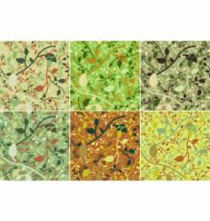 spring leaves pattern vector image