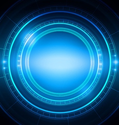 Abstract circle technology light blue background vector