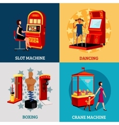 Game machine 2x2 design concept vector