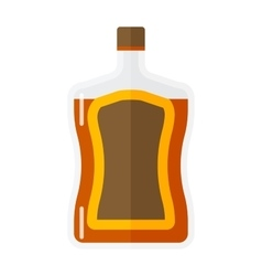 Whiskey bottle icon vector